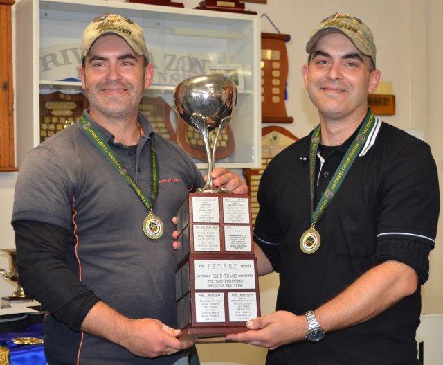 Adrian and Julian Lucchitti 5 man team winners for NSW 2011.JPG